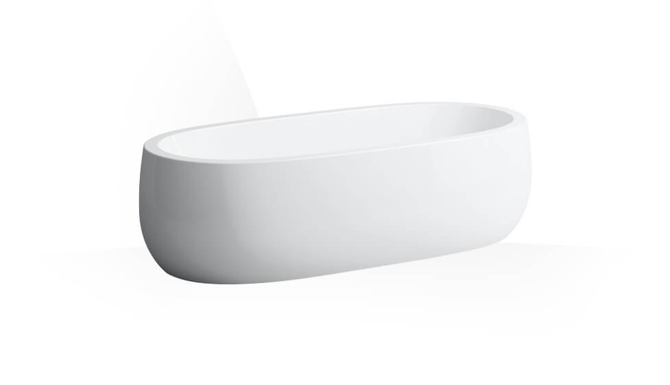 Bathtub, solid surface material, freestanding version, with lifting system by Laufen at ABC Emporio Kochi