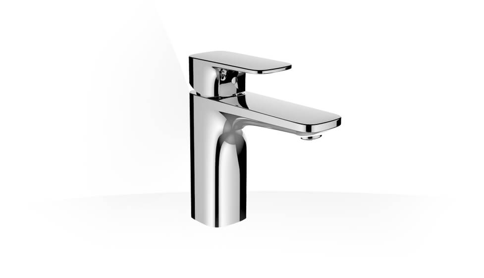 Basin mixer, projection 115 mm, fixed spout, with pop-up waste by Laufen at ABC Emporio Kochi