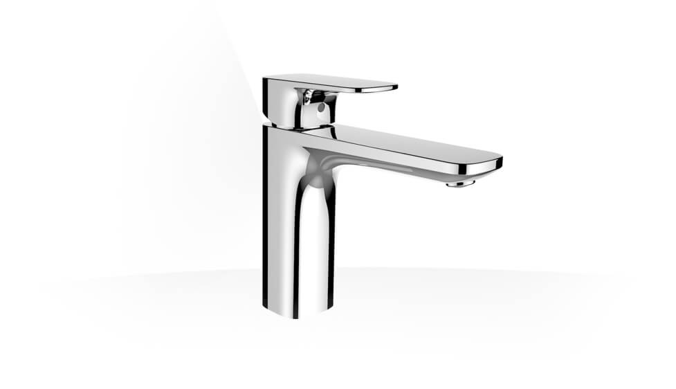Basin mixer, Eco+, projection 140 mm, fixed spout, with pop-up waste by Laufen at ABC Emporio Kochi