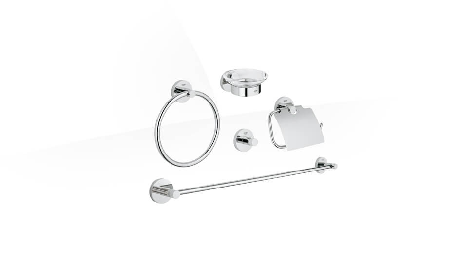 Essentials Master bathroom accessories set 5-in-1 by Grohe at ABC Emporio Kochi