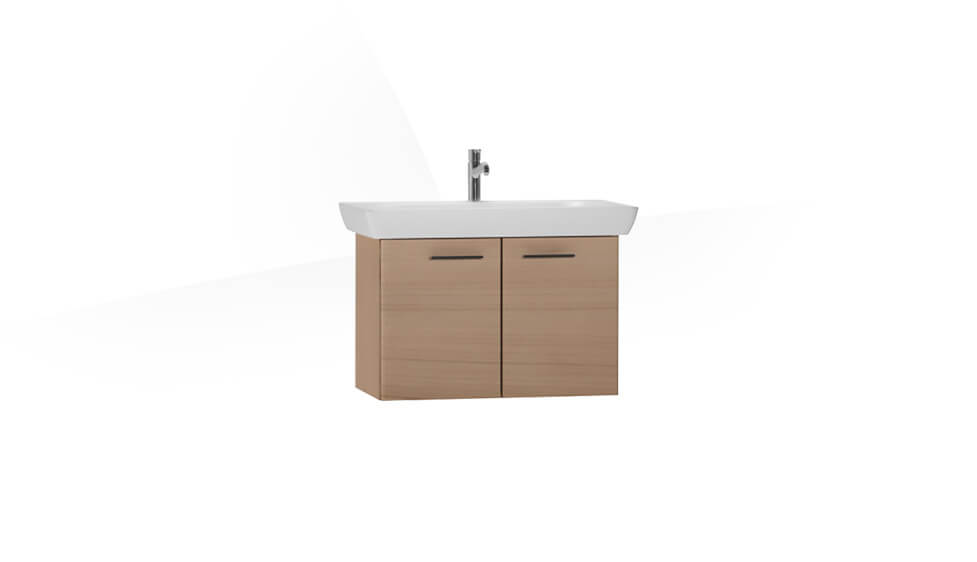 S20 Washbasin Unit 85 cm, Golden Cherry by VitrA at ABC Emporio Kochi