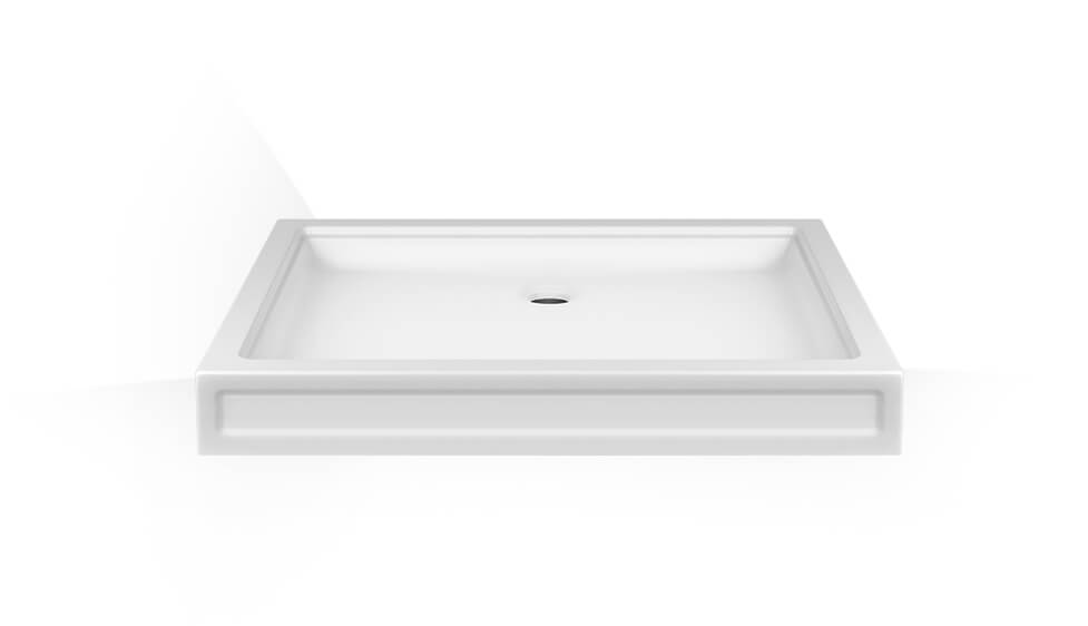 Shower tray in Cristalplant ® (matt white). Universal installation. Drain not included. by Gessi at ABC Emporio Kochi