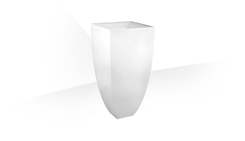 Standing washbasin in Ceramilux ® (bright white) with floor fixing and waste. Syphon included. by Gessi at ABC Emporio Kochi