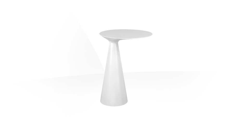 Freestanding side-table in Cristalplant ® (matt white). by Gessi at ABC Emporio Kochi