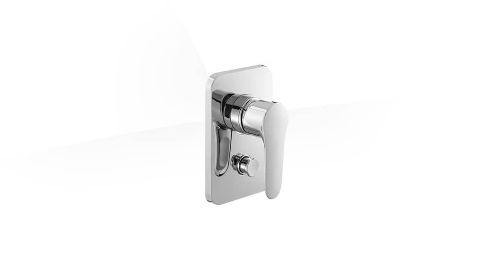 Recessed bath and shower faucet trim with lever handle and diverter button by Kohler at ABC Emporio Kochi
