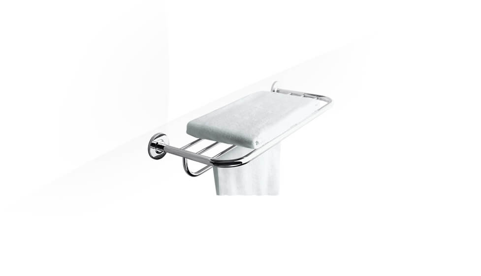 610mm towel shelf in polished chrome by Kohler at ABC Emporio Kochi
