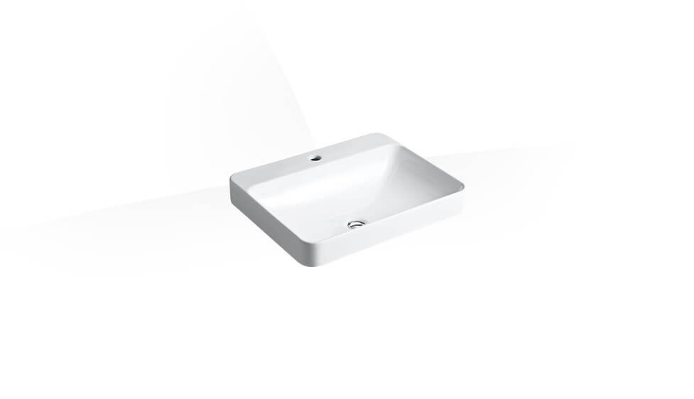 rectangular Vessel lavatory with single faucet hole by Kohler at ABC Emporio Kochi