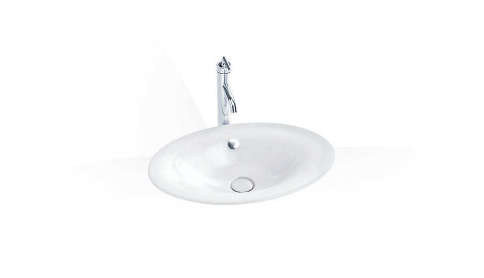 Vessel without faucet hole by Kohler at ABC Emporio Kochi