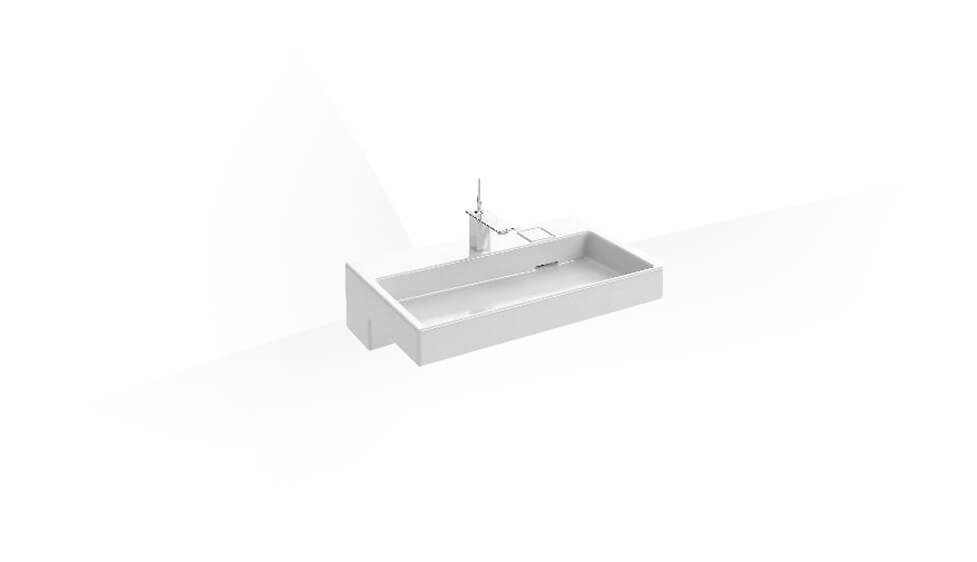 Vanity Top with single faucet hole by Kohler at ABC Emporio Kochi