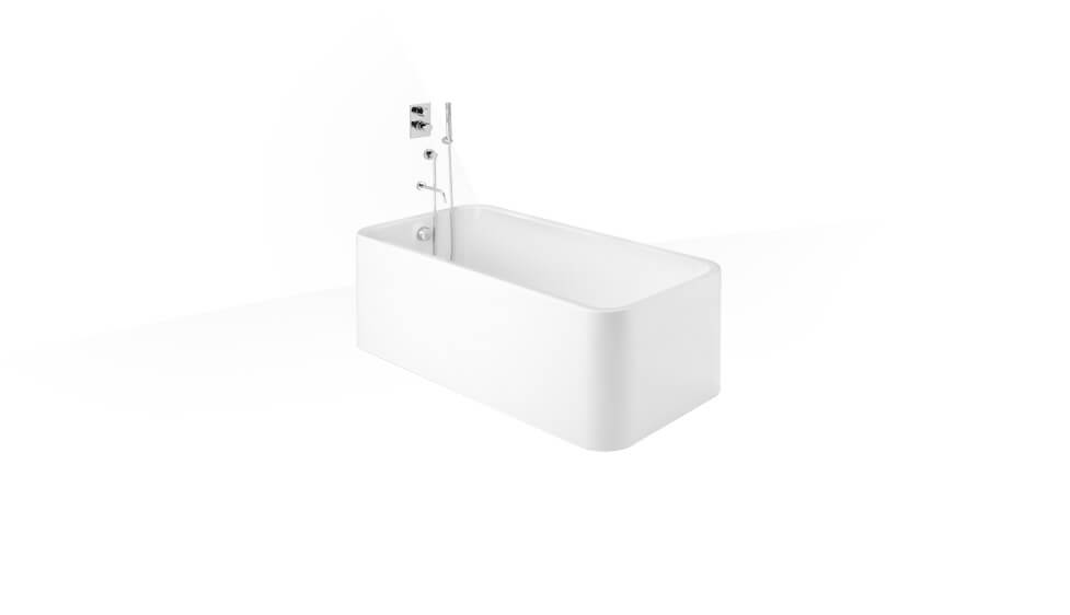 Rectangular free standing acrylic one piece bath by Roca at ABC Emporio Kochi