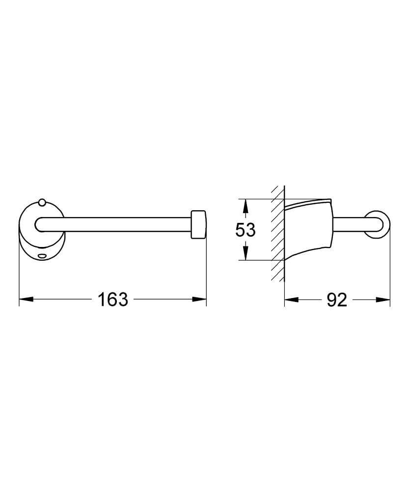 40296000 - Tenso Toilet paper holder - Technical Drawing