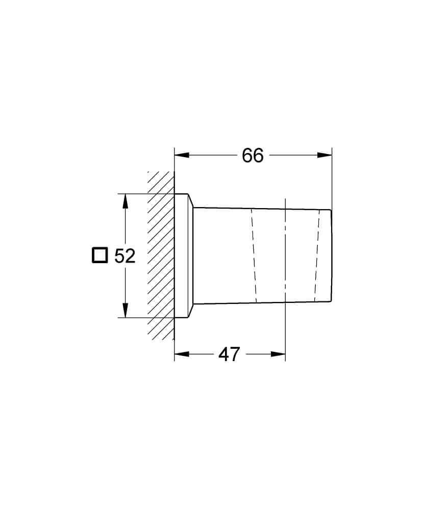 27706000 - Allure Brilliant Wall hand shower holder - Technical Drawing