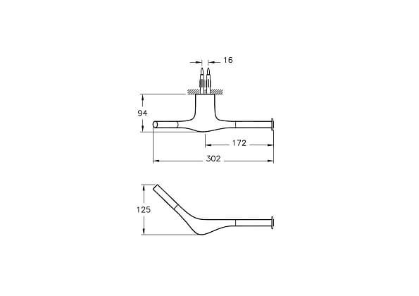 A48001IND - <p>Istanbul Roll Holder</p> - Technical Drawing