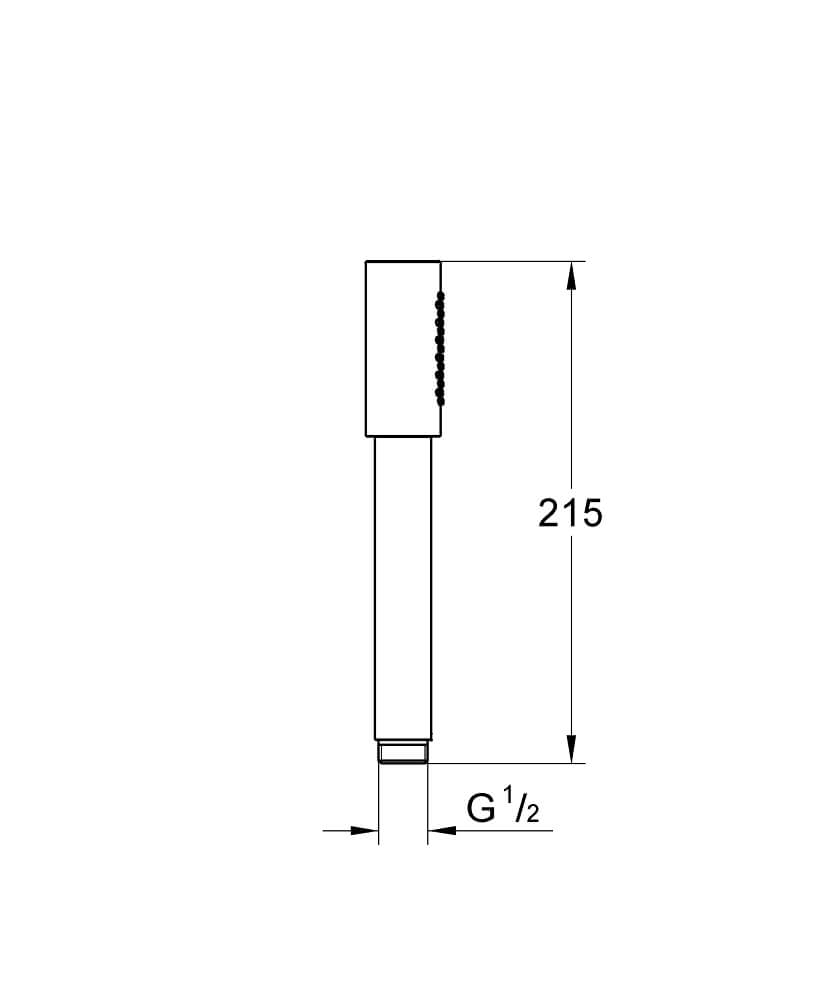 28034000 - Sena Stick Hand shower 1 spray - Technical Drawing