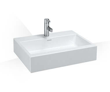 Countertop washbasin, undersurface ground by Laufen at ABC Emporio Kochi