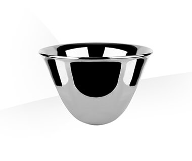 Counter washbasin  Ø500 mm, height 300 mm, in bright platinum GRES. by Gessi at ABC Emporio Kochi