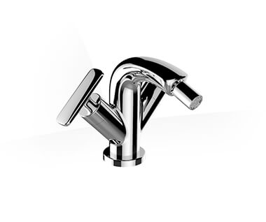 2-handle bidet mixer, projection 105 mm, fixed spout, with pop-up waste by Laufen at ABC Emporio Kochi