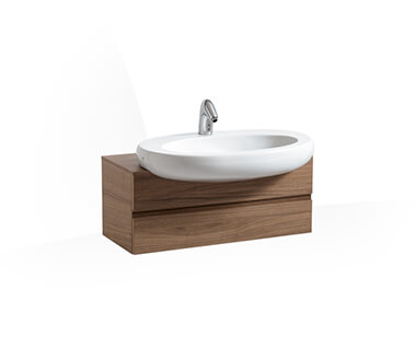 Vanity unit, 800 mm, for semi-recessed basin 813972 by Laufen at ABC Emporio Kochi